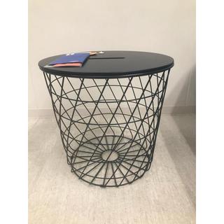 イケア(IKEA)のKVISTBRO クヴィストブロー リビングテーブル 収納付き, ダークブルー(その他)