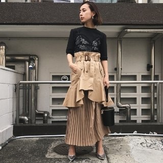 Ameri VINTAGE - アメリヴィンテージ TRENCH PLEATS SKIRT