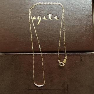 agete - アガット K10 ダイヤ ネックレス