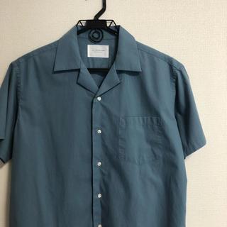 ドアーズ(DOORS / URBAN RESEARCH)のURBAN RESEARCH DOORS オープンカラーシャツ ブルー ほぼ新品(シャツ)