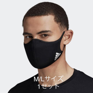 ADIDAS FACE COVER BLACK M/Lサイズ 1セット(その他)