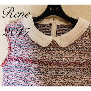 René - Rene♡ 2017年 白襟サマーツイードワンピース