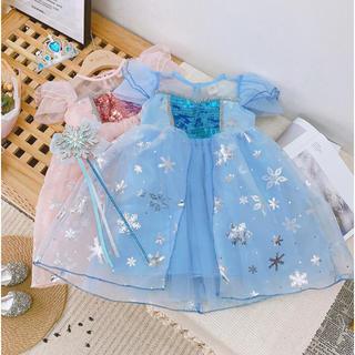 【120cm】アナ雪 アナ なりきり コスプレ プリンセス  ドレス