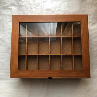 2段収納ケースアクセサリーケース小物入れブラウンアクセサリーボックス木目