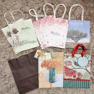 メルヴィータ(Melvita)のミニ紙袋(未使用)9枚(ショップ袋)