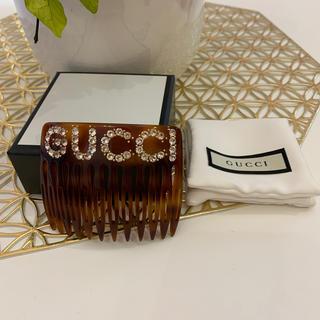グッチ(Gucci)のGUCCI グッチ ヘアクリップ ラインストーン  美品(バレッタ/ヘアクリップ)