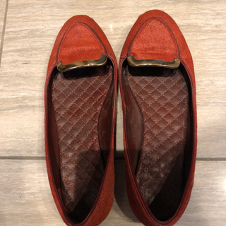 トリーバーチ(Tory Burch)のトリーバーチ ハラコ フラットシューズ 状態良好(ローファー/革靴)
