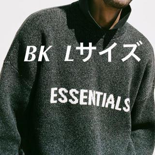 FEAR OF GOD - Essentials Black Knit Sweater Lサイズ