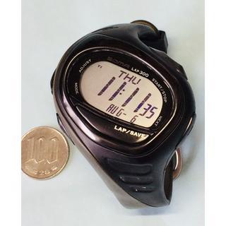 ナイキ(NIKE)のV10)グッとくる♡ナイキ・デジタル電池交換済みブラック(腕時計(デジタル))