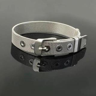 ザラ(ZARA)のシルバー 韓国ブレスレット 時計ベルト バングル メンズ レディース (ブレスレット)