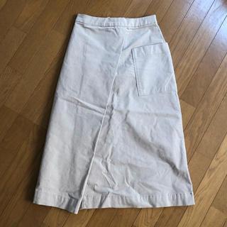 ムジルシリョウヒン(MUJI (無印良品))のコーデュロイセミフレアスカート(ひざ丈スカート)