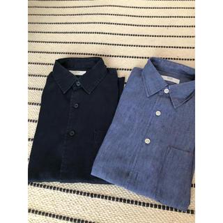 UNIQLO - 【期間限定値下げ中】ユニクロ リネンシャツ 麻シャツ 2枚セット