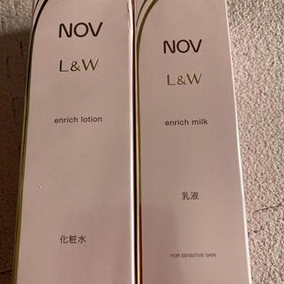 NOV - ノブ L&W エンリッチ化粧水&乳液 セット