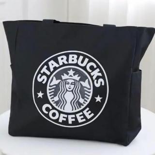Starbucks Coffee - 【スターバックス】トートバック エコバック ブラック38cm×38cm