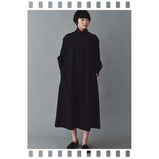 ミナペルホネン(mina perhonen)の今期2020/SSミナペルホネン  nubes ドレス ネイビー 36【新品】(ロングワンピース/マキシワンピース)