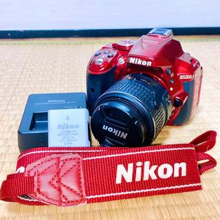 Nikon - 【女性大人気!!】 Nikon D5300 赤 レッド レンズキット 標準ズーム