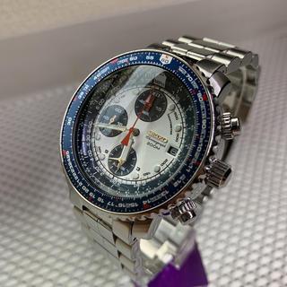 SEIKO - セイコーフライトマスターSNA413P1 青白パンダ パイロットクロノグラフ