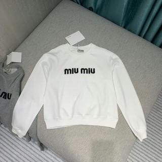 miumiu - 超人気ミュウミュウ MIUMIU パーカー/スウェット ホワイト