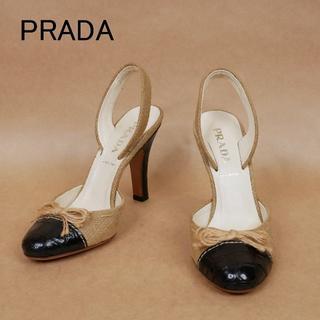 プラダ(PRADA)のPRADA プラダ 34 1/2 キャンバス生地 イタリア製 ハイヒール(ハイヒール/パンプス)