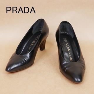 プラダ(PRADA)のPRADA プラダ 35 黒 イタリア製 ハイヒール(ハイヒール/パンプス)
