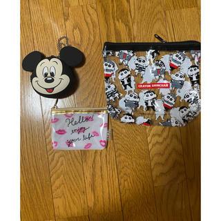 ディズニー(Disney)のミッキーシリコンポーチセット(ポーチ)