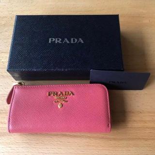 PRADA - PRADA プラダ キーケース ピンク ゴールド