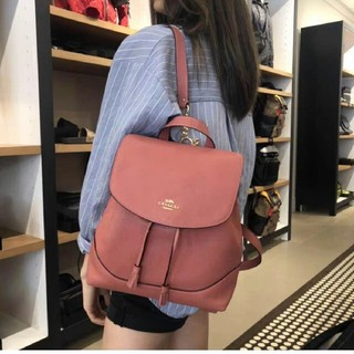 COACH - 【COACH】ELLE BACKPACK レザーバックパック F72645