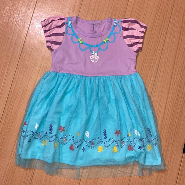 Disney(ディズニー)のアリエル ワンピース キッズ/ベビー/マタニティのキッズ服女の子用(90cm~)(ワンピース)の商品写真