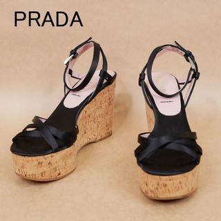 PRADA - 良品 PRADA プラダ 34 1/2 コルク イタリア製 サンダル