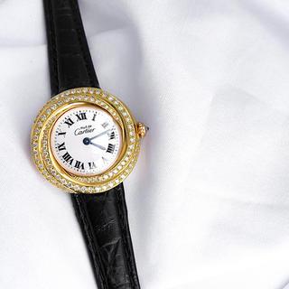 カルティエ(Cartier)の【仕上済】カルティエ トリニティ ダイヤ ゴールド レディース 腕時計(腕時計)