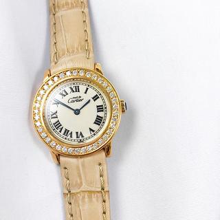 カルティエ(Cartier)の【仕上済】カルティエ ロンド SM ゴールド ダイヤ レディース 腕時計(腕時計)