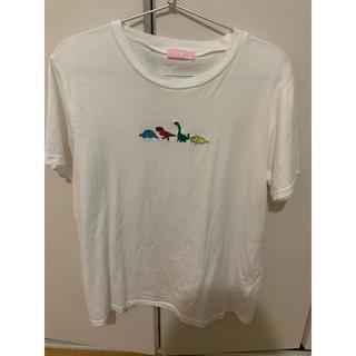 WEGO - wego tシャツ 恐竜 刺繍