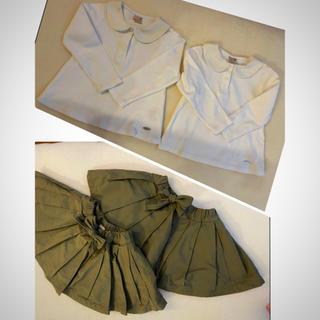 プティマイン(petit main)のプチマイン  プティマイン サイズ90 スカート トップス セット 双子ちゃんに(その他)