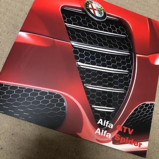 アルファロメオ(Alfa Romeo)の新品 カタログ アルファロメオ GTV スパイダー(カタログ/マニュアル)
