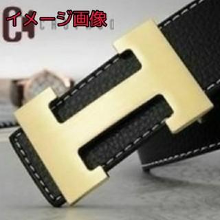 【 新品 未使用 】H バックル ベルト 黒