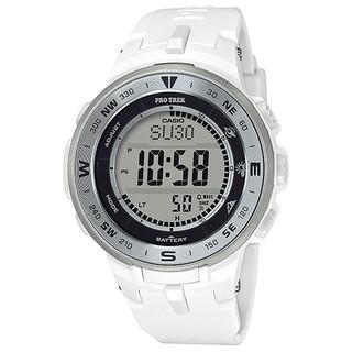 カシオ(CASIO)の【新品未使用】CASIO カシオ PROTREK プロトレック ホワイト(腕時計(デジタル))