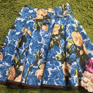 M'S GRACY - 美品エムズグレイシー レディフラワープリントスカート