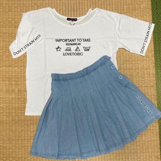 lovetoxic - LOVETOXIC ラブトキ Tシャツ&プリーツミニスカート Lサイズ