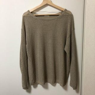 ジーユー(GU)のGU メッシュサイズオーバーセーター L(ニット/セーター)