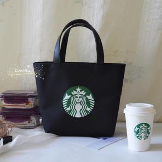 Starbucks Coffee - 【スターバックス】即購入大歓迎 ミニトートバック ランチバック ブラック