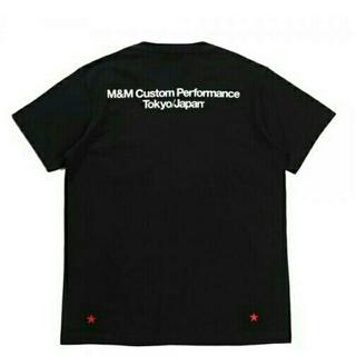 エムアンドエム(M&M)の【新品】M&M PRINT POCKET TEE サイズM ブラック 新作(Tシャツ/カットソー(半袖/袖なし))