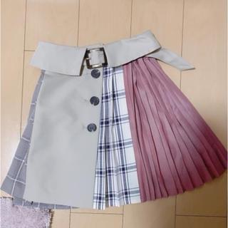 REDYAZEL - REDYAZEL 異素材プリーツスカート