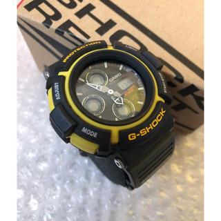 ジーショック(G-SHOCK)のCASIO カシオ G-SHOCK MADMAN AW570 黒黄 予備ベルト付(腕時計(デジタル))