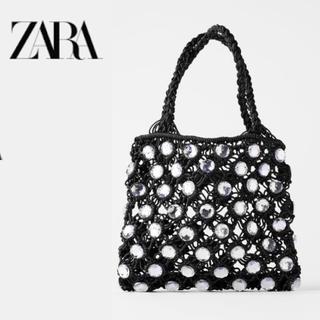 ZARA - 入手困難   ※ ZARA ラインストーン ( ビジュー ) バッグ 黒