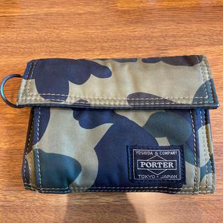 アベイシングエイプ(A BATHING APE)のa bathing ape &  porterコラボ 財布(折り財布)
