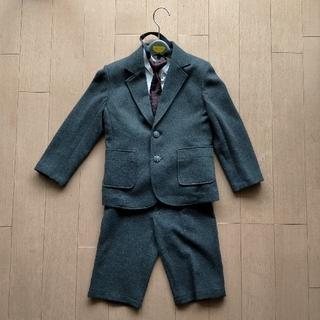 マザウェイズ(motherways)のマザウェイズ 男の子 グレー 上下スーツ 120cm(ドレス/フォーマル)