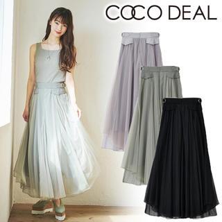 ココディール(COCO DEAL)の完売品 ココディール チュールミックスボリュームスカート(ロングスカート)