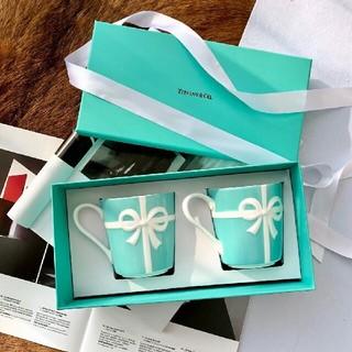 Tiffany & Co. - 新品未使用品 ティファニー リボンマグカップ 2個セット プレート ボウル