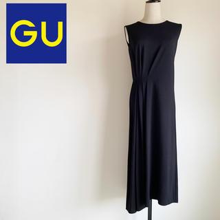 GU - 人気完売品『GU』フロントタックワンピース ブラック Mサイズ