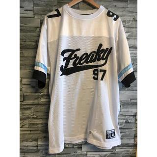 FREAKY - 90s【FREAKYフリーキー】XLメッシュシャツ ユニフォーム ホッケーシャツ